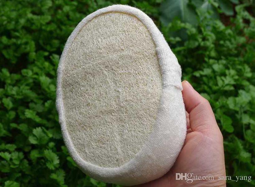 11x16cm Doğal Lif kabağı Luffa Pad Vücut Cilt Eksfoliasyon Scrubber Banyo Duş Spa Sünger Banyo Aksesuarları Temizlik Smooth Skin Lin3912