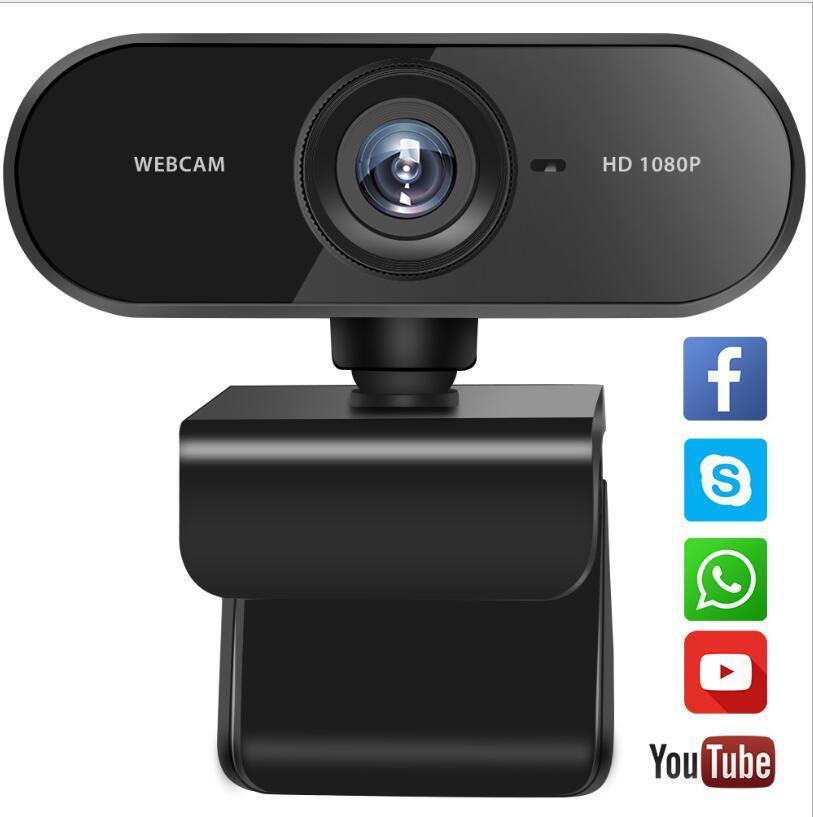 의 USB 웹 카메라 1080P 2K 2MP 손 고정 초점 컴퓨터 카메라 웹캠 내장 소매 상자 * 1080 웹캠 마이크 1920 사운드 흡수