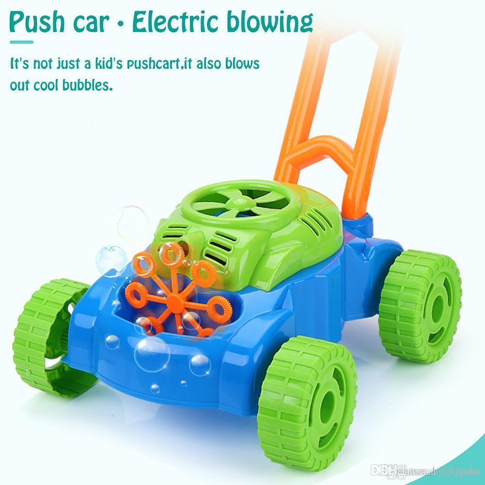 Creative Pousser voiture automatique Machine à bulles bébé jouet enfants cadeau électrique Bubble Gun Summer Jeu extérieur 06