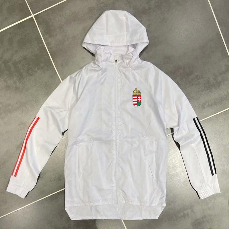 Yetişkin 20 21 Macaristan Hoodie Rüzgarlık Ceketler 2020 2021 Hoodies Spor Ceketler Kapüşonlu Fermuar Kış Coat Çalışan Erkek Ceketler