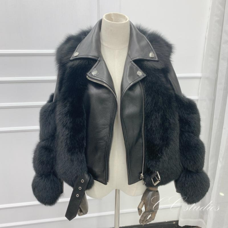 2020 reale Fur Coat giacca invernale donne pelliccia naturale Genuine Leather Cappotti Streetwear spessore caldo moda