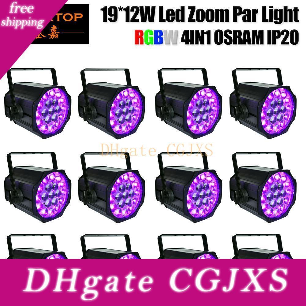 Profilo Gigertop 12 pack High Power Control Ring colori 19x12w Rgbw Led Zoom luce par leggera di alluminio No Impermeabile Potenza Con 10 -50 gradi