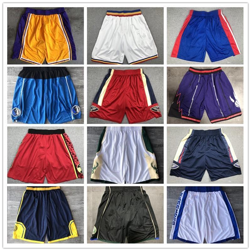 Nova qualidade superior! 2020 Team Basketball Shorts Homens Shorts Sport Shorts College Calças Branco Vermelho preto roxo amarelo