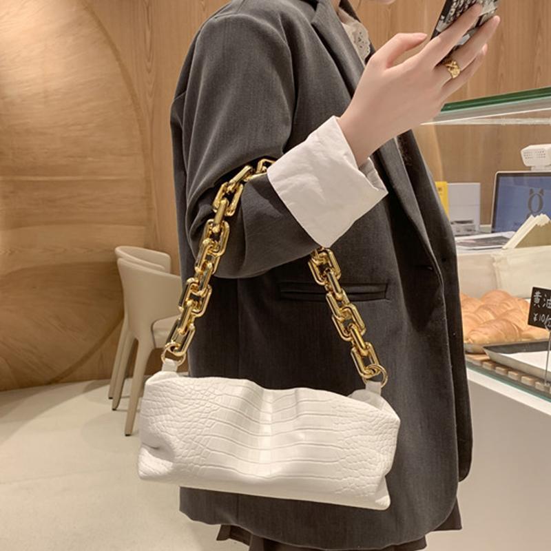 Гофрированный цепи сумки и портмоне плеча женщин Crossbody мешок женщин способа высокого качества дизайнер кожаные сумки