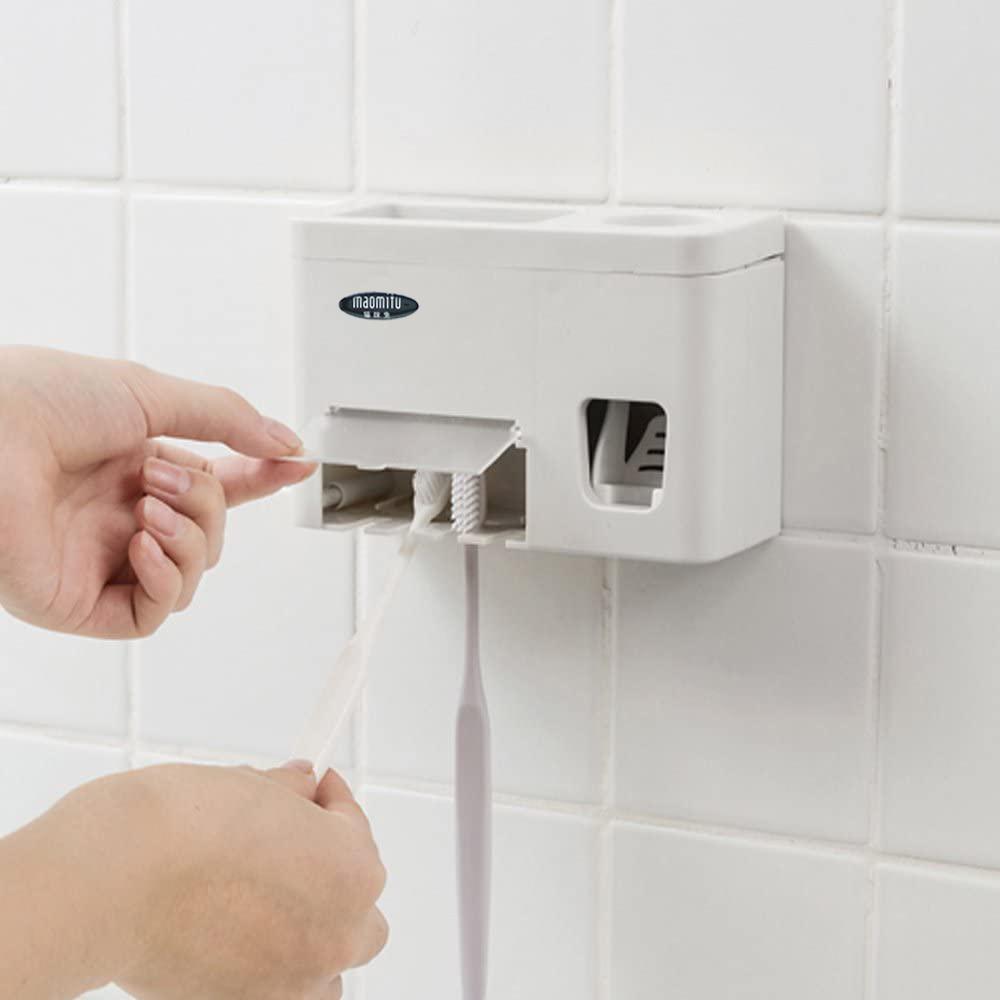 UV-Zahnbürste Sanitizer mit Zahnpastaspender Bad Zahnbürstenhalter Wand befestigter mit Sanitizer Funktion