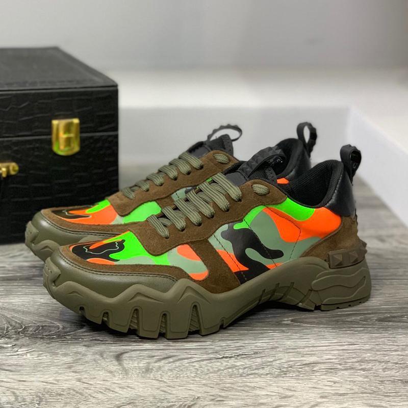 zapatos de color sólido mujer zapatillas de deporte Ronda del dedo del pie del tamaño grande de las mujeres zapatos inferiores gruesos de cuero real con cordones de las zapatillas de deporte de los colores mezclados Mujer