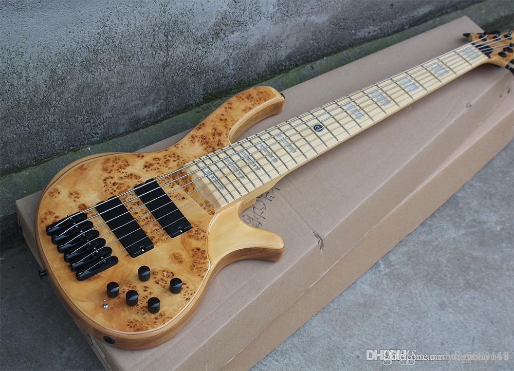 Bajo 6 cuerdas de guitarra eléctrica con hardware Negro, 24 trastes, palo de rosa de escala, dilatada lengh de los acordes, la oferta por servicio