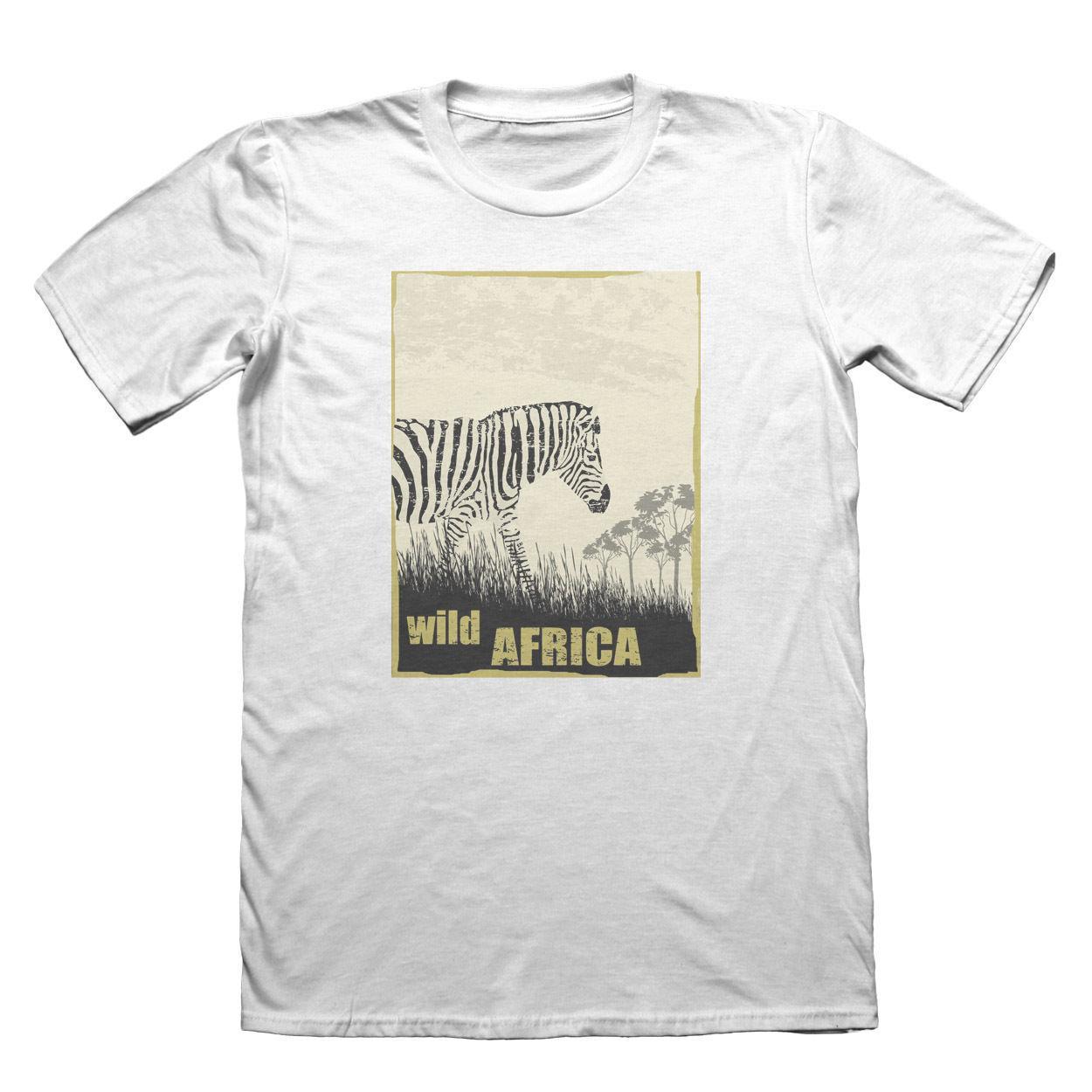 2020 Yaz Moda Sıcak Vahşi Afrika Zebra Tişört - Erkek Babalar Günü Noel Hediyesi # 7223 Tee gömlek