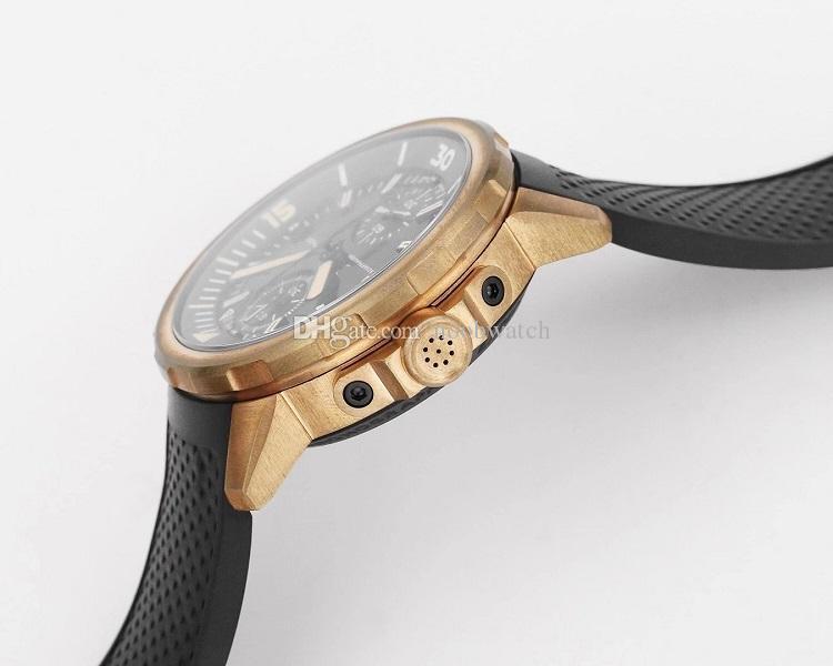44mm BRONZE OXIDIERTEN automatische wasserdicht Chronograph Herrenuhr Armbanduhr V6F 379.503 EXPEDITION CHARLES DARWIN BEZEL VINTAGE