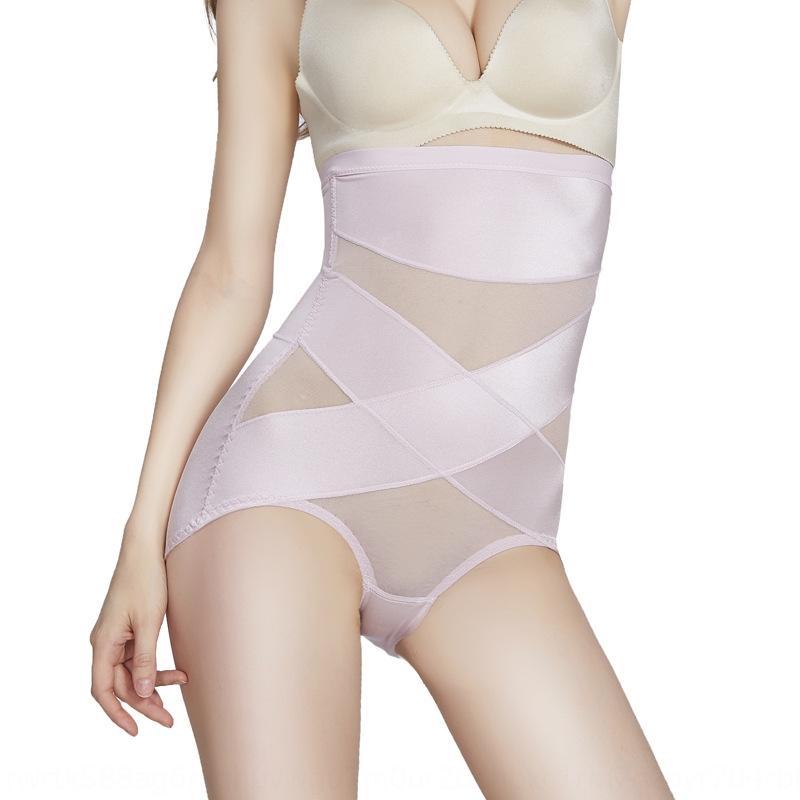 rglBS posparto cintura alta vientre cuerpo de cierre de conformación sin fisuras de malla hip-elevación corsé-que forma el cuerpo de la ropa interior medias del verano respirable fina