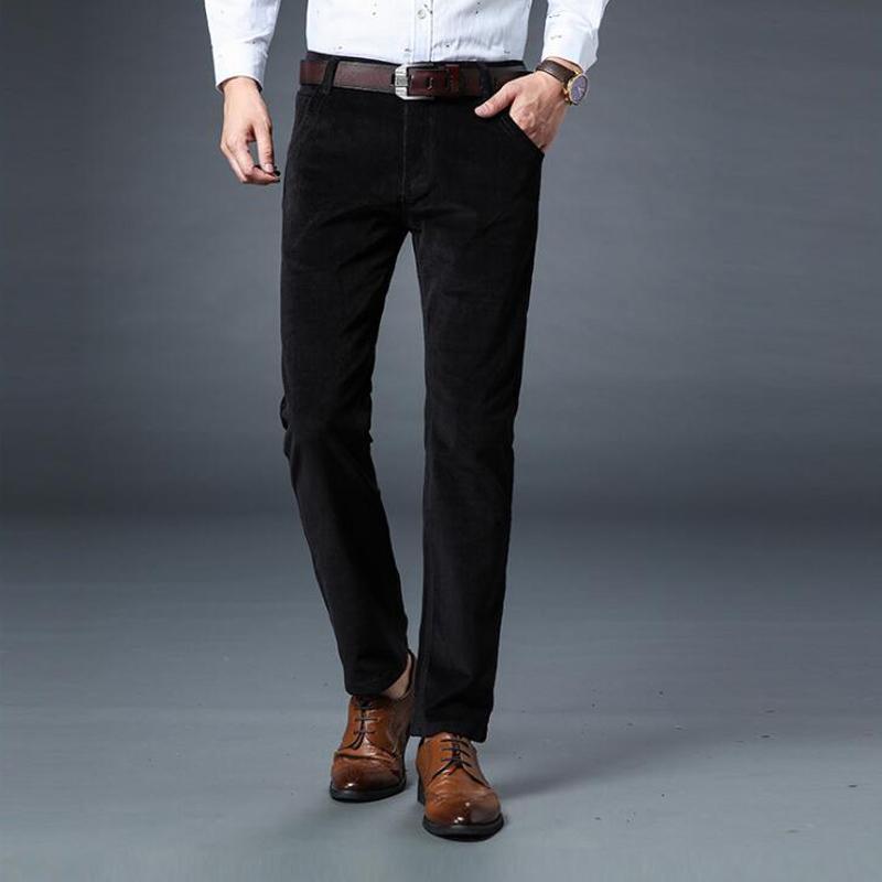 Neue Herbst-Winter-Mode Jeans Slim Fit starke warme Corduroy Fleece-Hose Männer beiläufige Geschäfts-Art-lange Hosen-Männer MX200814