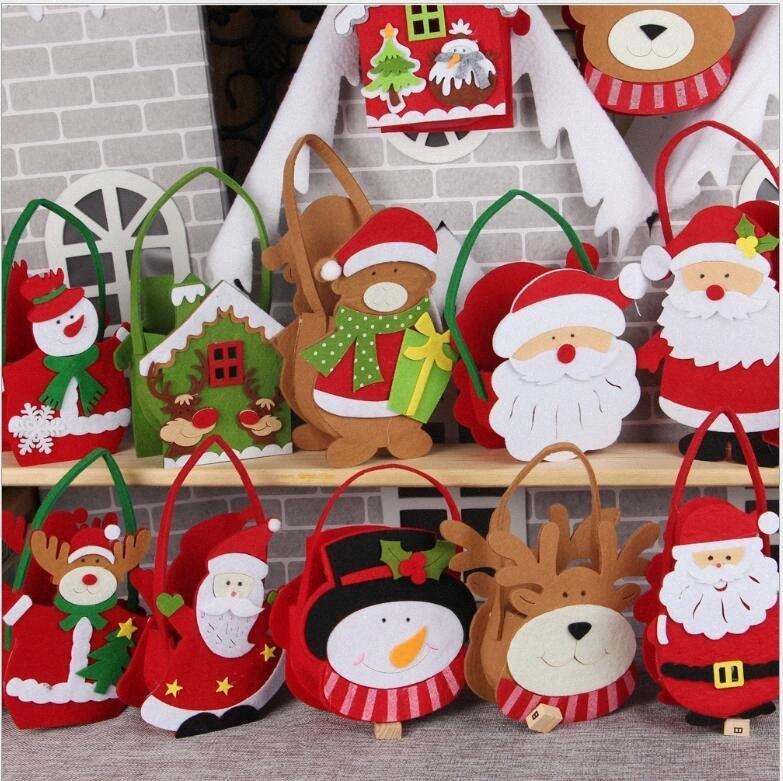 Navidad no tejido Candy Bag Saco de Santa Presenta Bolsa titulares de Navidad regalos de tratamiento de las bolsas de vacaciones de Año Nuevo Decoración Seashipping LJJP289 2 ynZN #