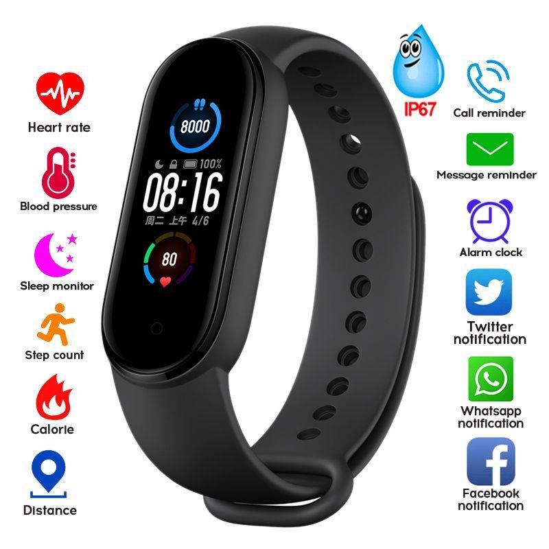 Novo M5 Smart Watch Homens Mulheres Bluetooth Watch Fitness Sport Tracker Chamada SmartWatch Play Music Bracelet
