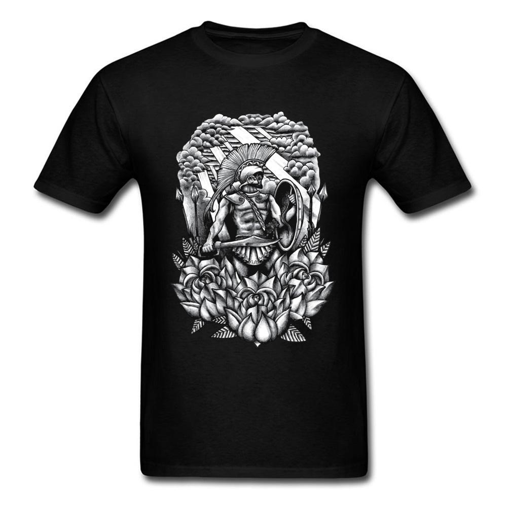 Soldado e Rosas de Hip Hop T-shirt roupas para homens Camisetas 2018 Mens Verão Casual manga curta Tops Tees