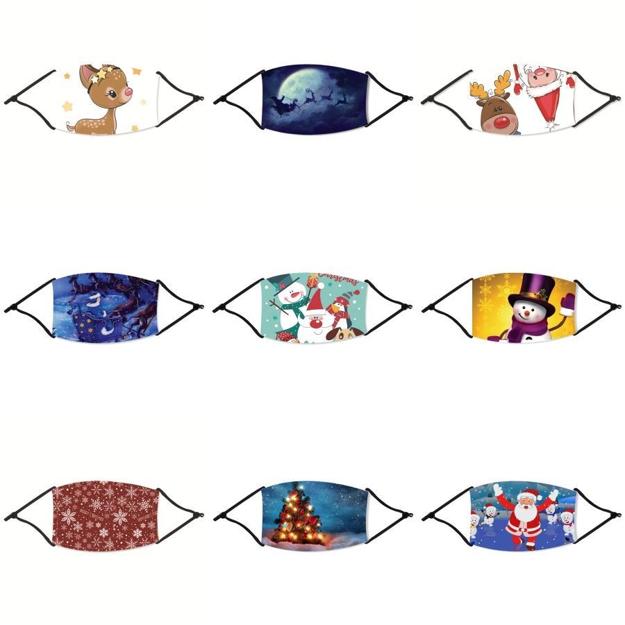 Cara de Navidad máscara anti-polvo Earloop con la respiración Máscaras válvula ajustable reutilizable Boca Navidad suave y transpirable anti polvo protectora # 216