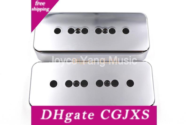 1 Set Of 2pcs Niko Chrome P90 Soapbar Ramassage Cover 50/52 mm lp style de guitare électrique Livraison gratuite Wholesales