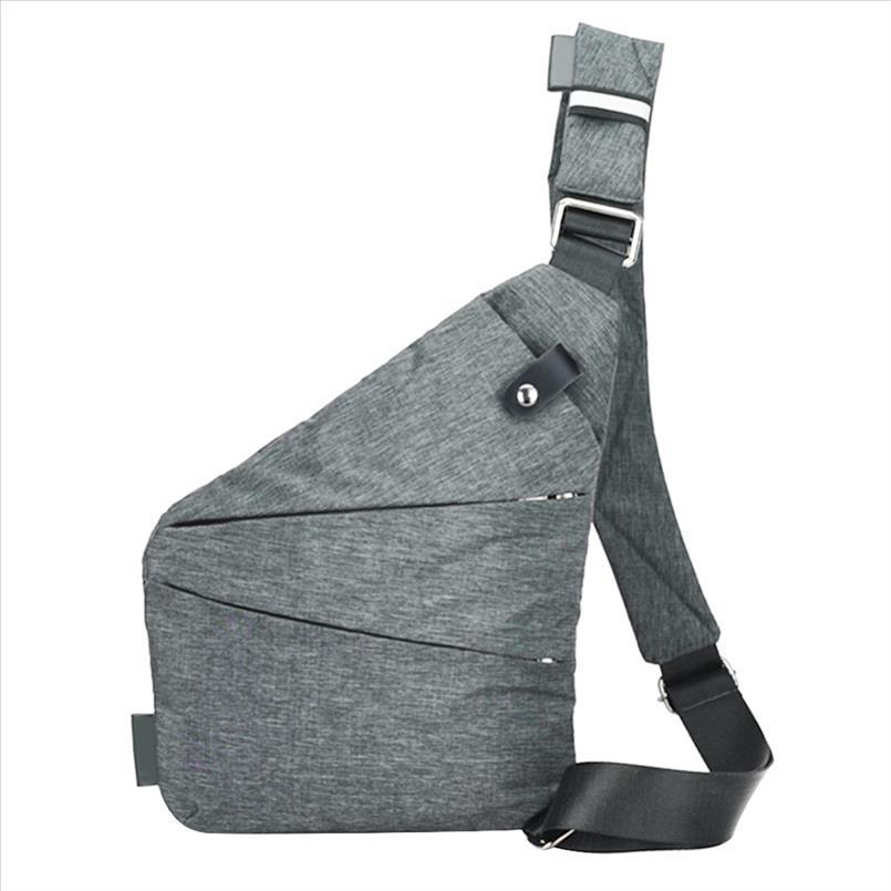 Gli uomini della tela Petto Bag Anti Theft Mens Messenger Borse a tracolla casual maschile marsupio Sling singole borse a spalla Daypacks