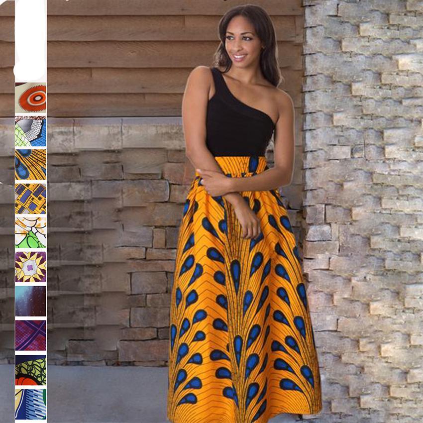 Drucken Röcke 2020 Nachrichten afrikanische Kleider für Frauen Mode Dashiki Röcke Bazin Robe Kleidung Vestido Naher Osten Riche Traditionelle CX200813