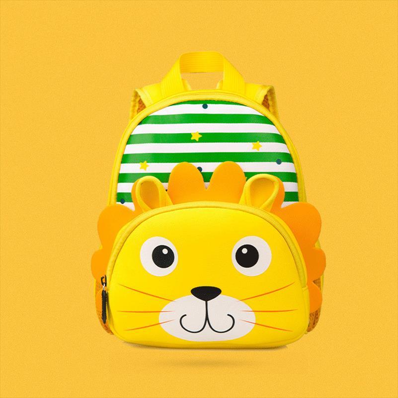 Zoo Children Backpacks for Girl Boys Cute Cartoon 3D Lion Tiger Giraffe School Bags Waterproof Kindergarten Bags mochilas