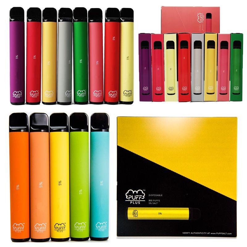 19 colores soplo Plus dispositivo desechable de 3,2 ml Pod 550mAh Vape Pen con el rasguño Código Puffplus cartuchos de aceite Carros de cigarrillos vacío E
