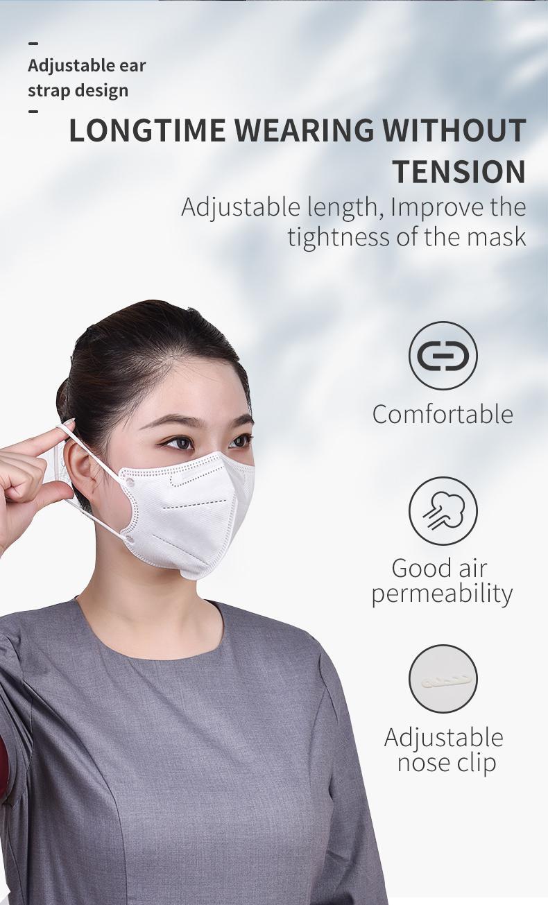 Kn95 респиратор нетканых марли одного упаковки для взрослых расслабленной и комфортно