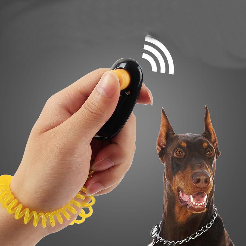 Pet Cat Dog Training Clicker Универсальный дрессировщик собак Звук Послушание Aid ремешок Обучение Инструмент Зоотовары Аксессуары для собак