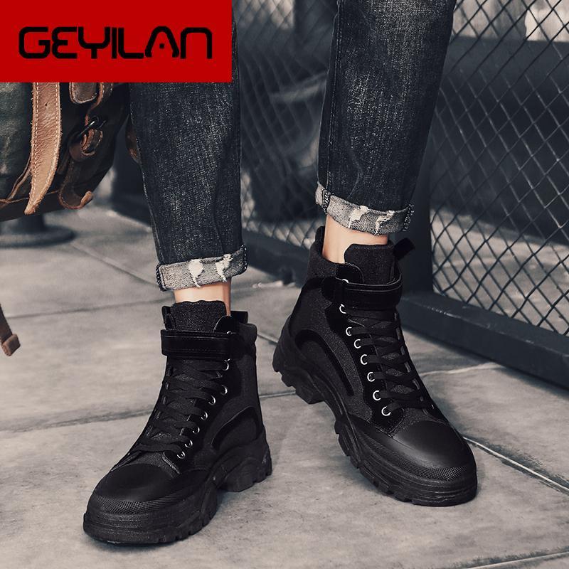 New inverno botas quentes Couro Mens Botim com Femininos Zipper Bota Sapatos Masculinos Segurança do Trabalho Exército Botas * 18867