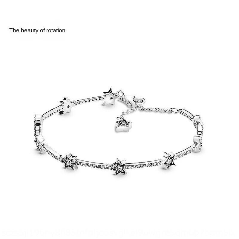 Xuan Zhi Mei Pan Jia S925 Silber Diy Armband der Frauen wunderschöne Sterne Armband DIY heiß-Verkauf Handtasche Zubehör