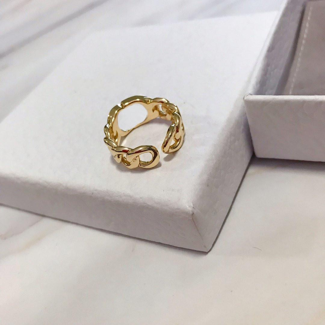 Best Selling Ring for Women Letter Shape Ring High Quality Brass Charm Ring Fashion Jewelry Supply