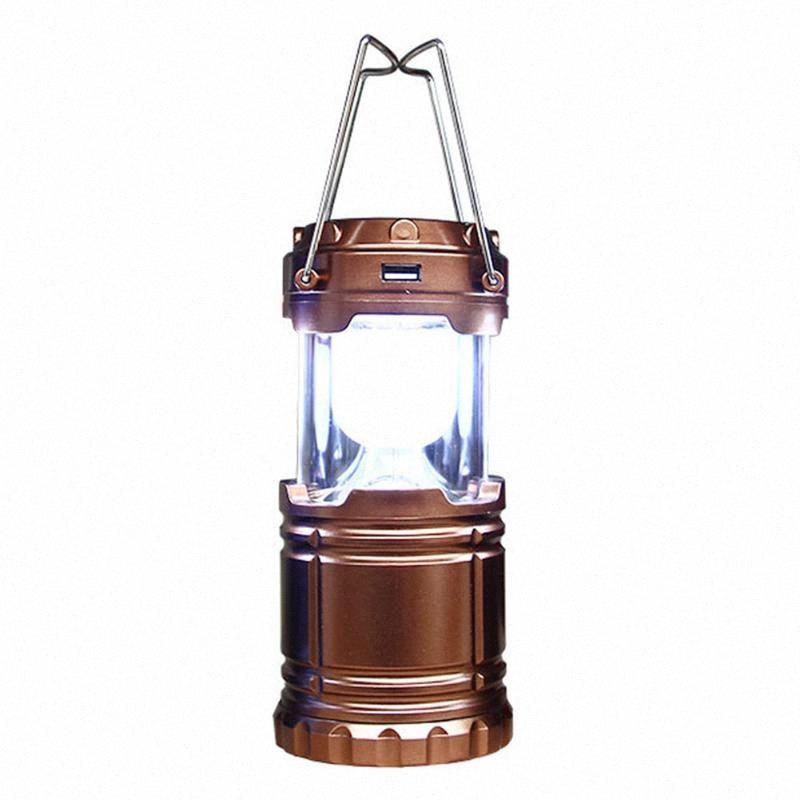 Handheld Camping Lantern Rechargeable Solar Powered Silicone Emergency Outdoor