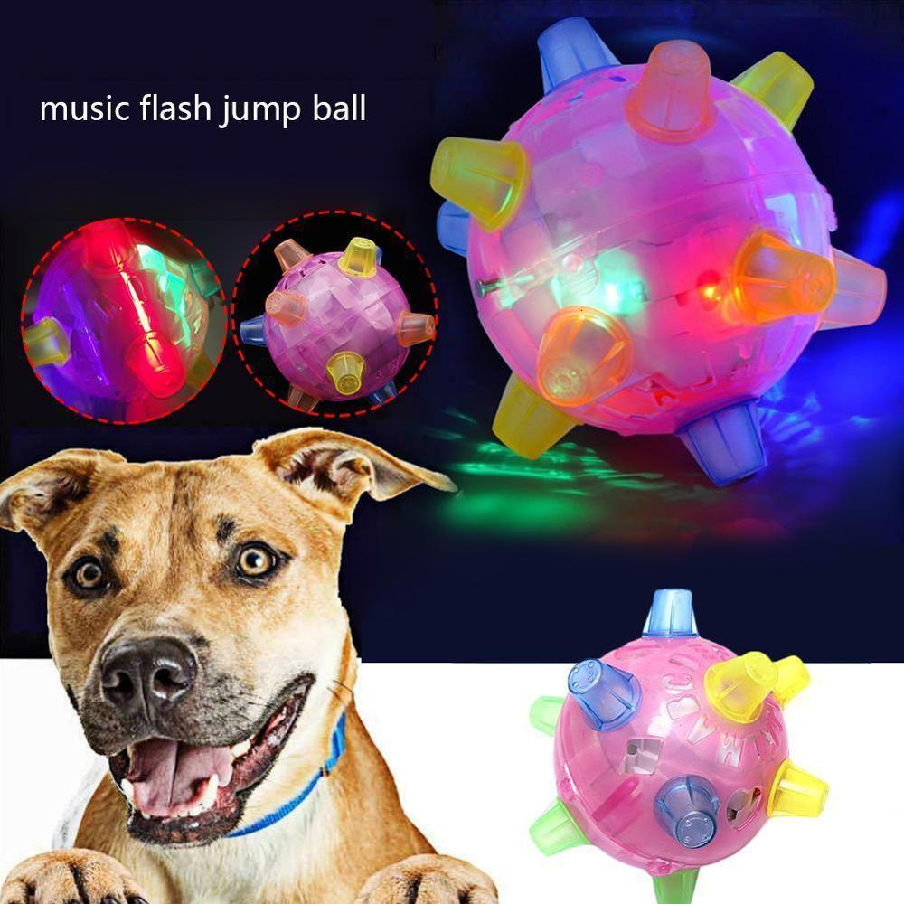 1PC Pet Ball Toy Baby Kids Jumping Activation Ball Cat Dog Chew Electric Toys Dancing Ball Gift Novelty Gag Luminous Toys