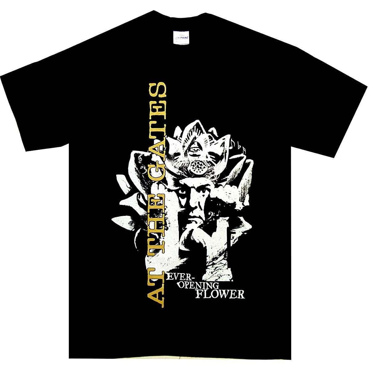 At The Flower Portões nunca abrir Shirt S M L XL XXL 3XL Offcl Death Metal T-shirt T-shirt gola redonda Sleeve camisetas Top Tee