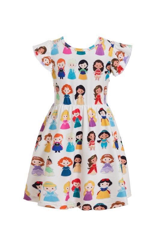 Neonate estate colorato dinosauro Dress Stampa Milksilk Dinosaur World manica corta Abbigliamento bambini Boutique di usura