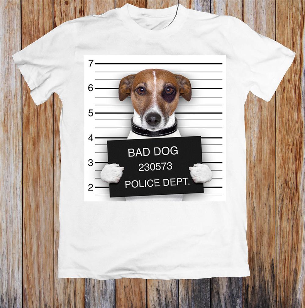 Bad Dog Dep divertidos de la camiseta unisex camiseta retro O Cuello Camiseta