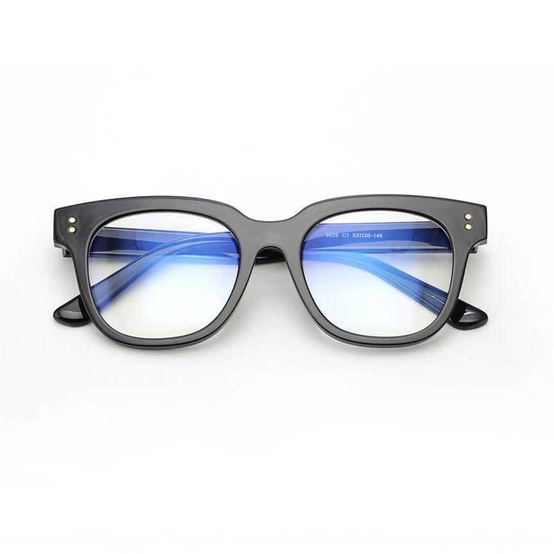 Nuovo telaio nero wo faccia piana artefatto faccia piana telaio grande dimagrante alla moda maschile e stessi occhiali delle donne occhiali XQVr0