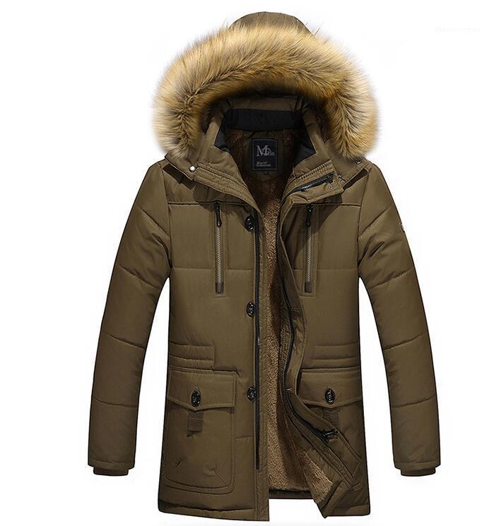 Spesso cappotti in pile con cappuccio anti rivestimento del cappotto Uomo sportivo invernale Piumini Designer