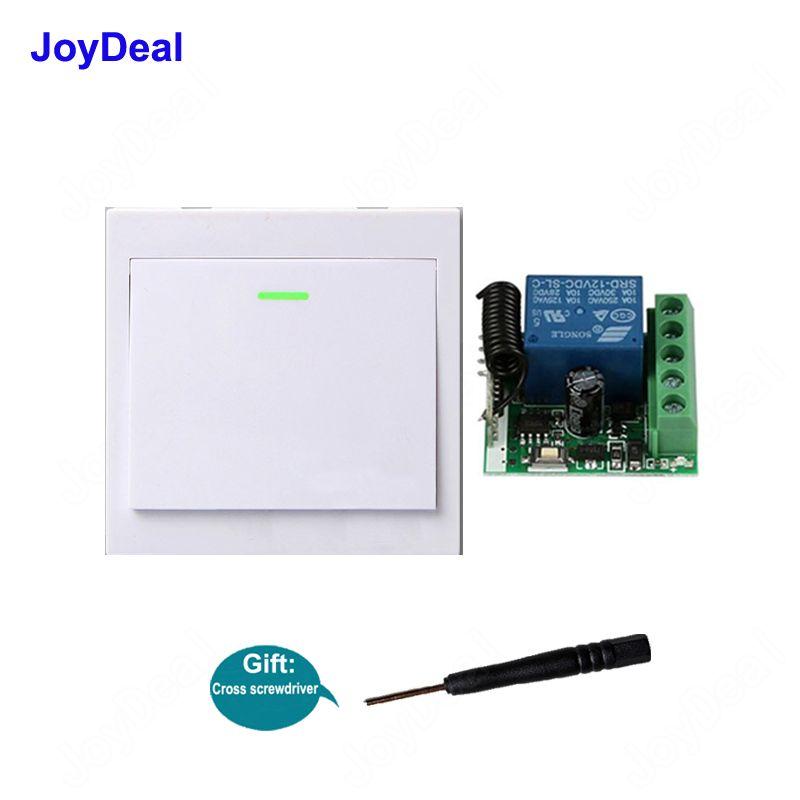 Contrôle de la maison intelligente 433 MHz Interrupteur à distance sans fil DC 12V 1CH Récepteur Émetteur de panneau mural de la bande LED lumières lampes TX