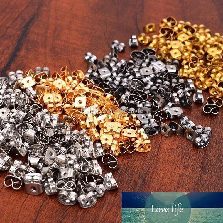 Free shipping 70g Silver Tone Ear Nut Clutch Earring Post Backs Jewelry accessories
