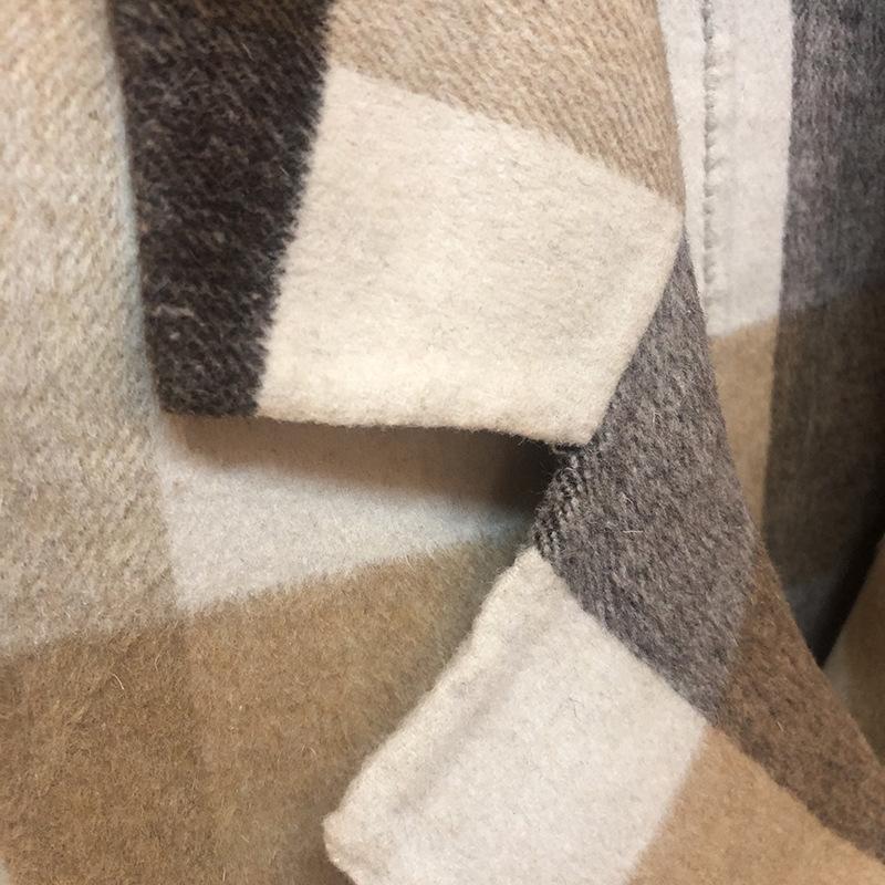 eTfLV saison tempérament carré style coréen OL costume cachemire col manteau de laine manteau de laine femmes droites tube coatcoat