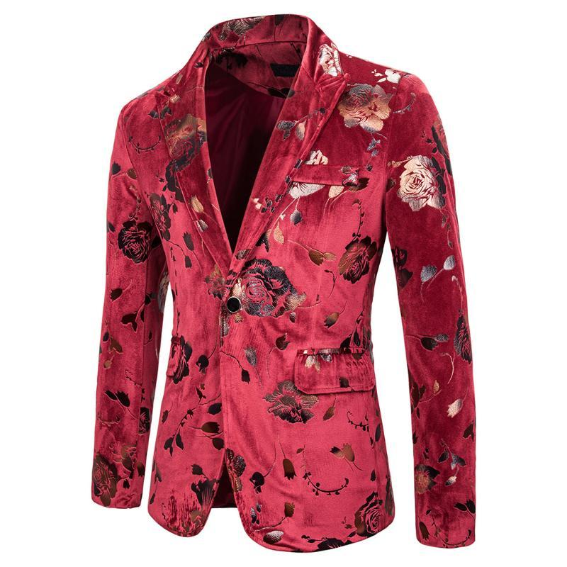 Casual Erkek takım elbise iki renk Gül Bronzlaştırıcı Düğün göster Elbise Gece Kulübü Sunucu Tören Studio Örgün Suit Ceket Blazer yazdır