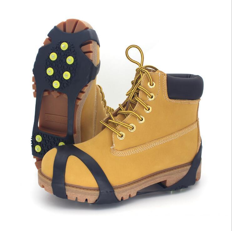 Sapları Kramponlar Kramponlar galoş cny2253 Tırmanma Ayakkabı Dikenler Kar Tutucu Açık Unisex 10 Studs Anti-Skid Kar Buz