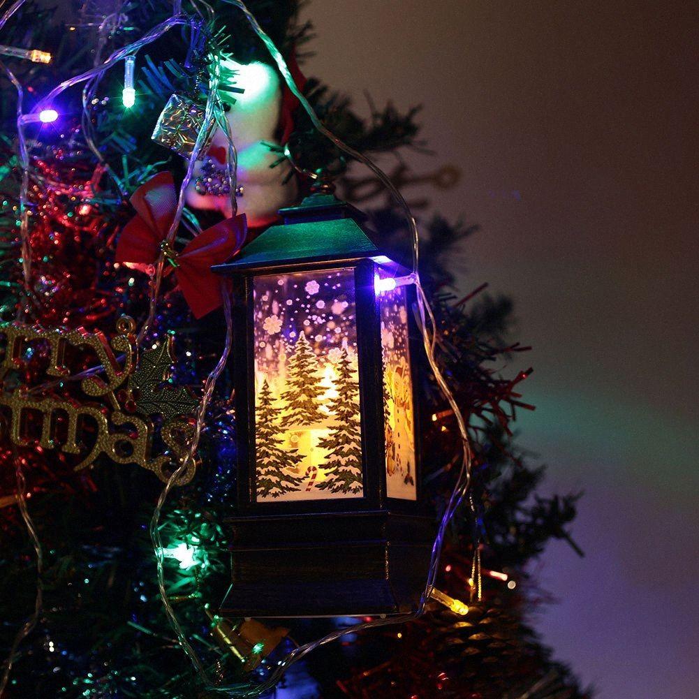 Уличный фонарь пламени свет Красивые Рождество Пластиковые Висячие Творческий Vunh #