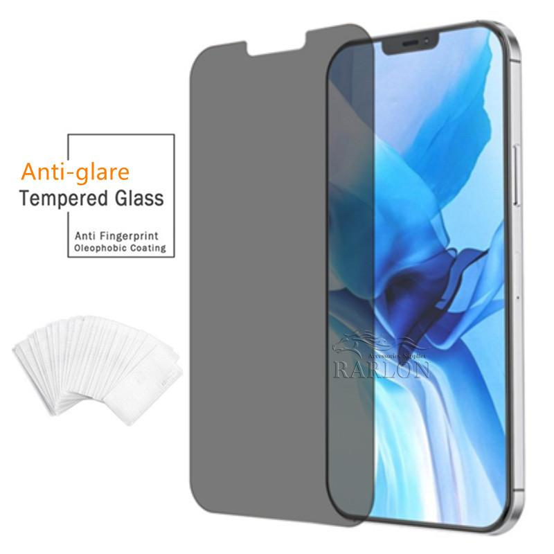 For Iphone 13 13PRO 12 Mini 11 Pro XR XS MAX X 8 7 6s Plus Privacy Screen Protector Anti-Spy Shield Anti-glare Real Tempered Glass Without Package