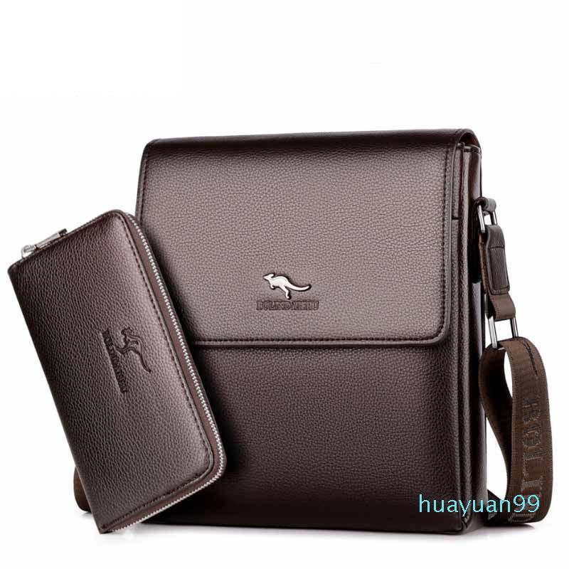hombre nuevo bolso-maletín bolsas de mensajero de la manera de cuero de la PU de los hombres bolsa de ordenador portátil envío libre