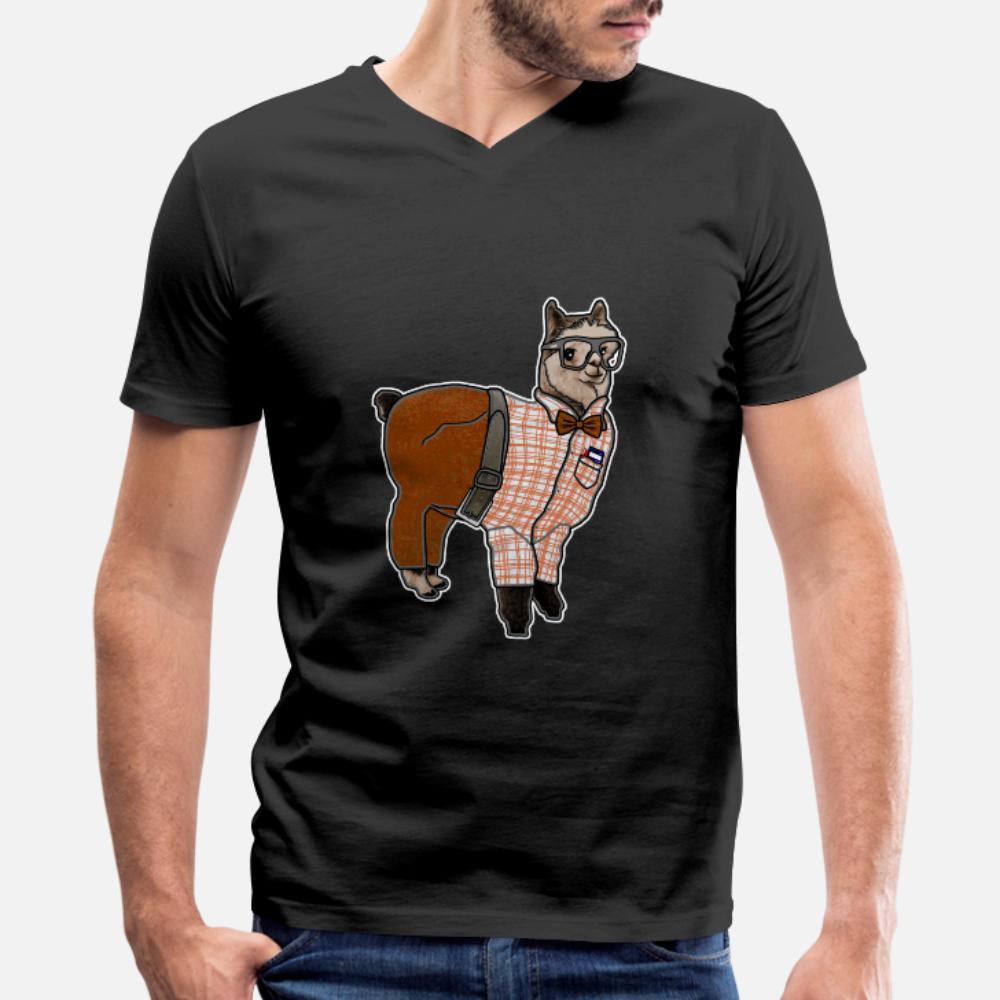 Lama İnek t gömlek erkekler Özelleştirilmiş tişört S-3XL erkek Hediye Temel İlkbahar Sonbahar Trend gömlek