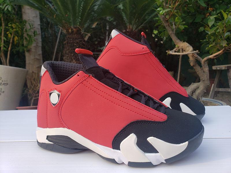 Yeni jimnastik Kırmızı Siyah Beyaz Yayın Basketbol Ayakkabı Kutusu ile 14 Spor Spor ayakkabılar 14s Deri Erkekler Tasarımcı Trainer