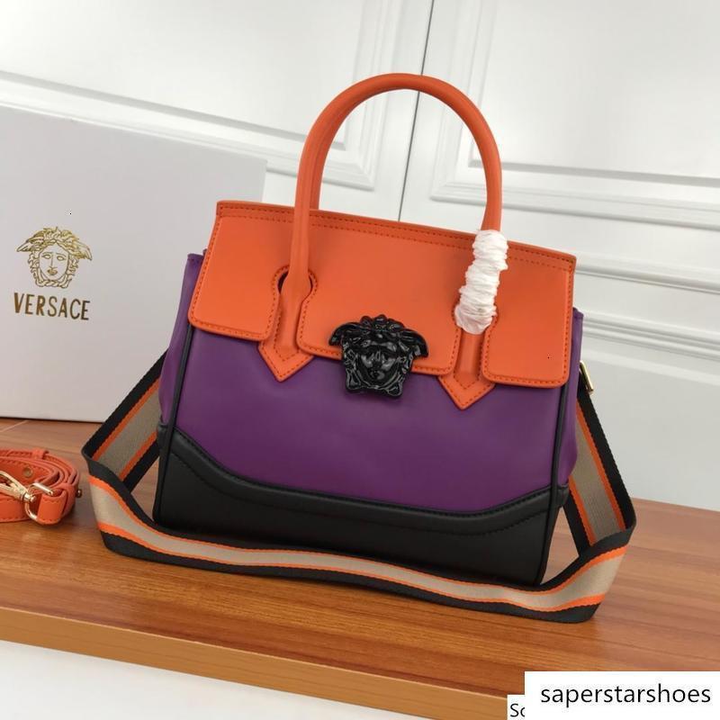 estilo colorido feminino genuíno couro s saco mulheres bolsa de ombro senhora messenger 7193 meenger HOULDER mão 26 * 22 * 12