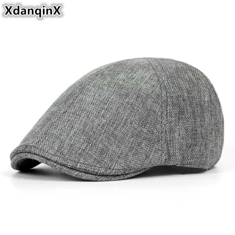 Cap Uomini Retro Estate XdanqinX di respirabile ultrasottile berretti per piani delle Donne Donne eleganti Caps Beret signore coppia Cappello Nuovo