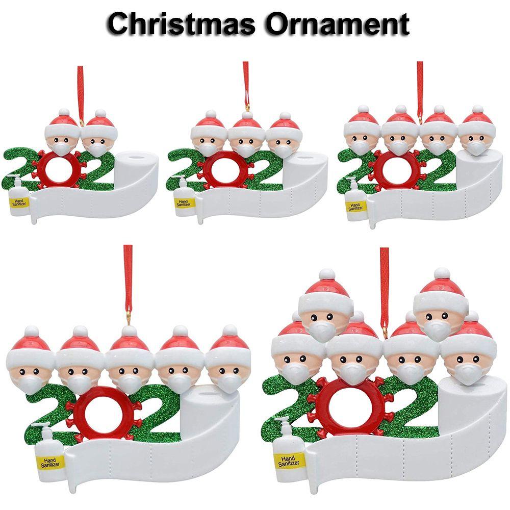 2020 Noel Süs Noel Dekorasyon Kardan Adam Kolye ile Yüz DIY Noel ağacı Aile Partisi Hediye Hızlı Kargo Maske