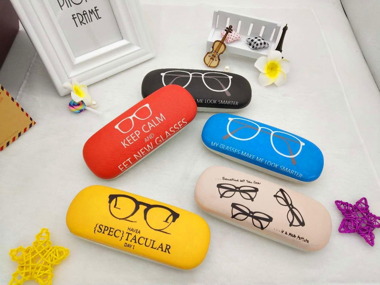 Mode étudiant dessin animé étudiant lunettes de cas boîte lunettes de dessin animé cas de mode boîte